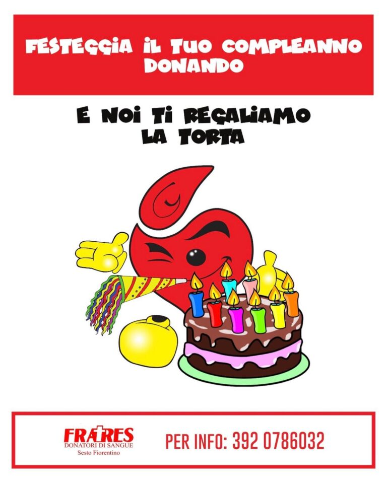 Dona sangue il giorno del compleanno
